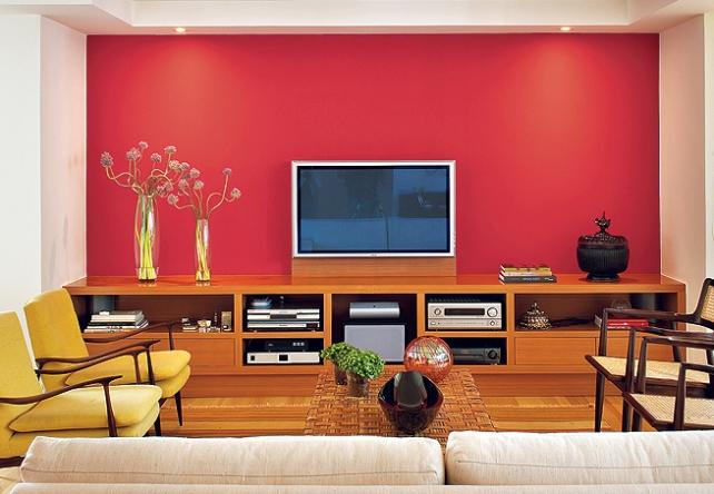 parede-pintada-sala-vermelho